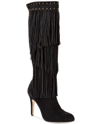 INC International Concepts Tomi Fringe Tall Dress Boots