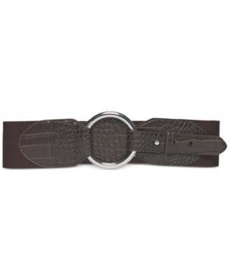 Lauren Ralph Lauren Stretch Croco Belt