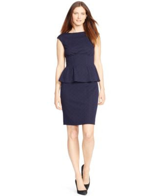 American Living Cap-Sleeve Peplum Dress