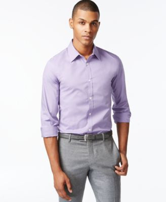 Calvin Klein Men's Infinite Cool Non-Iron Checked Slim-Fit Shirt