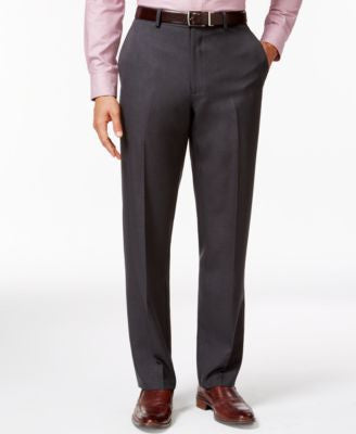 Alfani Charcoal Slim-Fit Dress Pants, Only at Vogily