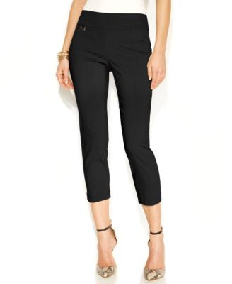 Alfani Petite Tummy-Control Pull-On Capri Pants, Only at Vogily