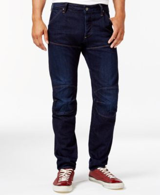 GStar Men's Tapered Fit Jeans, Dark Aged Blue Wash