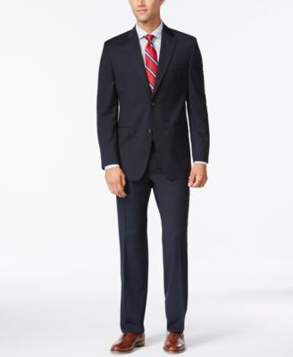 IZOD Navy Solid Classic-Fit Suit