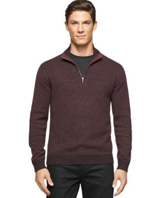 Calvin Klein Men's Big And Tall Mock-Collar Sweater