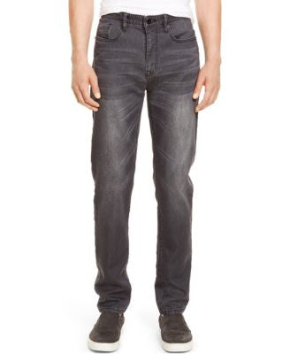 Kenneth Cole New York Slim-Fit Straight-Leg Whiskered Jeans, Gray Wash
