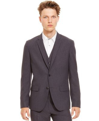 Kenneth Cole Reaction Two-Button Grid Blazer