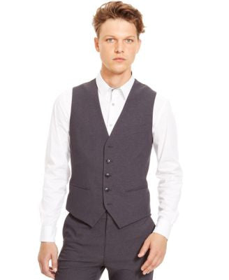Kenneth Cole Reaction Five-Button Grid Vest