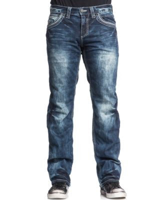 Affliction Men's Blake Fleur De Lis Relaxed-Fit Jeans, Valdez Wash