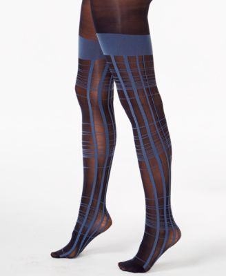 Pretty Polly Checked Mock Hold Up Tights