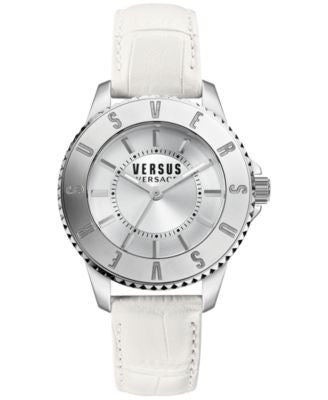Versus by Versace Women's White Leather Strap Watch 38mm SH7150015