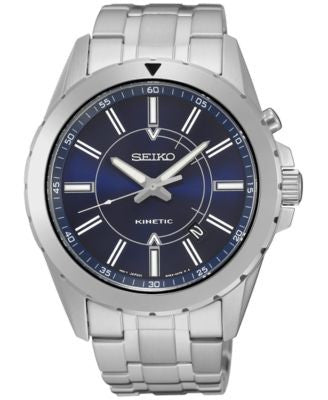 Seiko Men's Kinetic Recraft Series Stainless Steel Bracelet Watch 42mm SKA703