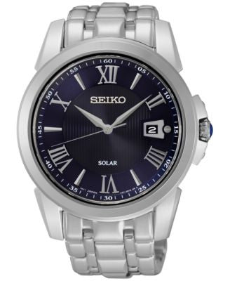Seiko Men's Solar Le Grand Sport Stainless Steel Bracelet Watch 42mm SNE395