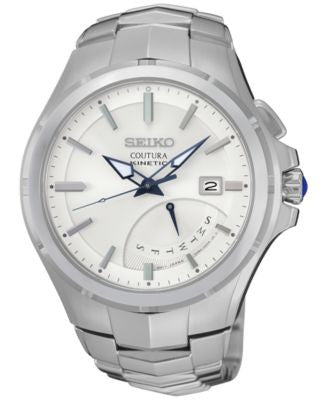 Seiko Men's Automatic Coutura Kinetic Retrograde Stainless Steel Bracelet Watch 43mm SRN063