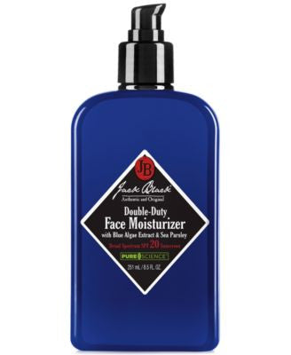 Jack Black Double-Duty Face Moisturizer SPF 20 with Blue Algae Extract & Sea Parsley, 8.5 oz