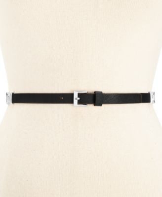 kate spade new york Saffiano Belt with Bow Connectors