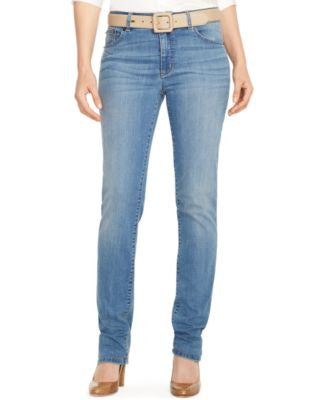 Lauren Ralph Lauren Premier Stretch Straight-Leg Jeans, Perry Wash