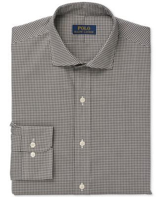 Polo Ralph Lauren Black and White Micro Check Dress Shirt