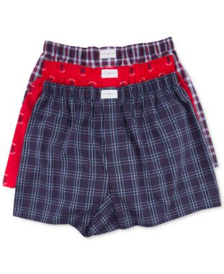 Tommy Hilfiger Men's Woven Boxer 3-Pack - 09TV019