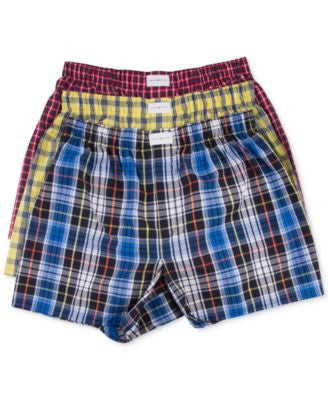 Tommy Hilfiger Men's Woven Boxer 3-Pack - 09TV023