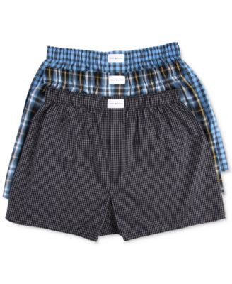 Tommy Hilfiger Men's Woven Boxer 3-Pack - 09TV024