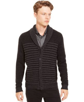 Kenneth Cole Reaction Shawl-Collar Striped Cardigan