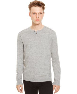 Kenneth Cole Reaction Marled Slub Henley Sweater