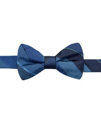 Ryan Seacrest Distinction Manchester Stripe Pre-Tied Bow Tie, Only at Vogily