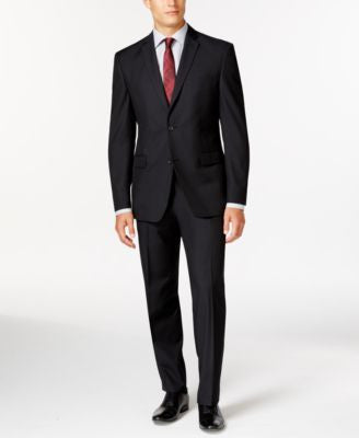 Marc New York by Andrew Marc Slim-Fit Black Tonal Suit