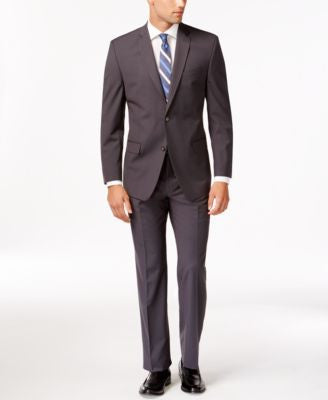 Marc New York by Andrew Marc Slim-Fit Gray Mini-Stripe Suit