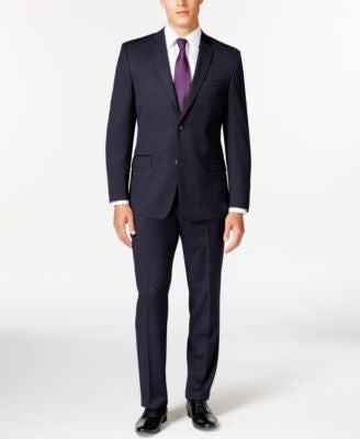 Marc New York by Andrew Marc Slim-Fit Navy Mini-Stripe Suit