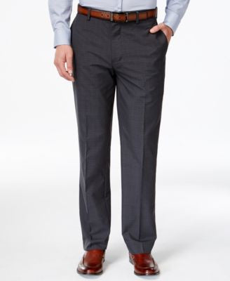 Louis Raphael Charcoal Plaid Dress Pants