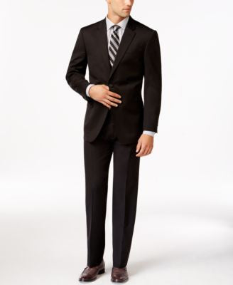 Tommy Hilfiger Slim-Fit Solid Black Suit