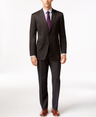 Tommy Hilfiger Slim-Fit Solid Charcoal Suit