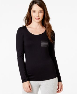 Alfani Long Sleeve Solid Top