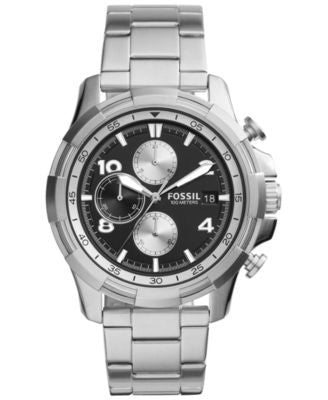 Fossil Men's Chronograph Dean Stainless Steel Bracelet Watch 45mm FS5112