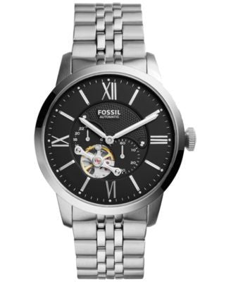 Fossil Men's Automatic Chronograph Townsman Stainless Steel Bracelet Watch 44mm ME3107