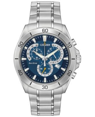 Citizen Men's Chronograph Eco-Drive Stainless Steel Bracelet Watch 41mm AT2070-59L
