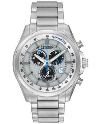 Citizen Men's Chronograph Eco-Drive Stainless Steel Bracelet Watch 43mm AT2130-59A