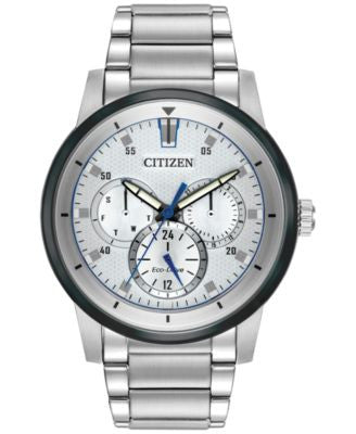 Citizen Men's Eco-Drive Sport Stainless Steel Bracelet Watch 44mm BU2018-55A