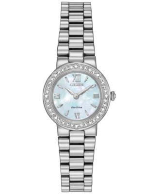 Citizen Women's Eco-Drive Stainless Steel Bracelet Watch 23mm EW9820-54N