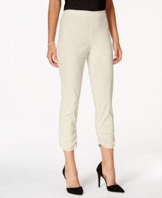 Style & Co. Ruched Hem Cropped Skinny Capri Pants, Only at Vogily