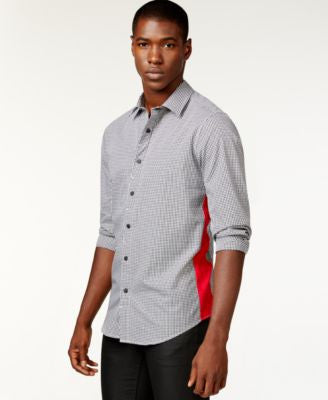 Sean John Men's Gingham Contrast-Side Shirt