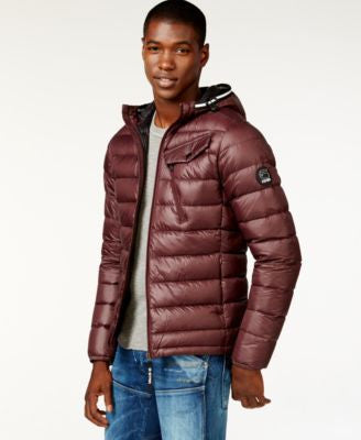 GStar Men's Quilted Hooded Puffer Jacket, a Vogily Exclusive Style