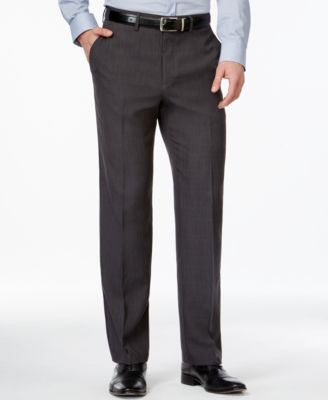 Haggar eCLo Windowpane Straight Fit Dress Pants