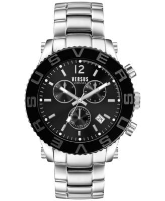 Versus by Versace Men's Chronograph Madison Stainless Steel Bracelet Watch 42mm SOH020015
