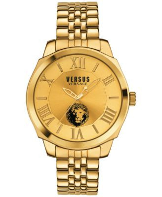 Versus by Versace Men's Chelsea Gold-Tone Ion-Plated Stainless Steel Bracelet Watch 42mm SOV060015