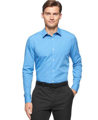 Calvin Klein Men's Striped Button-Front Shirt