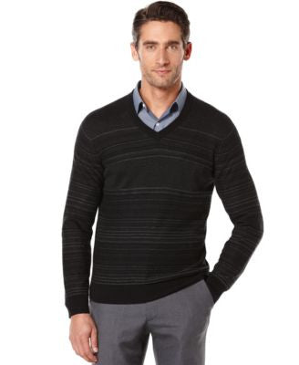 Perry Ellis Jacquard V-Neck Sweater