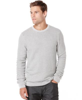 Perry Ellis Textured Crew-Neck Sweater